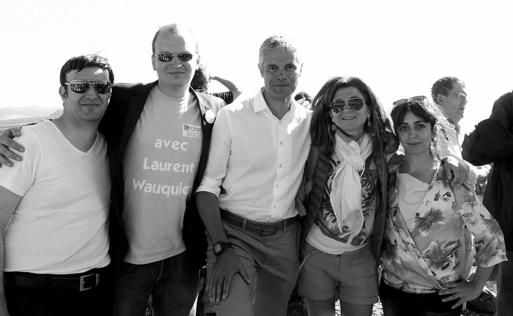 La Droite Sociale 92 à la Montée du Mont Mézenc 2014 avec Laurent Wauquiez